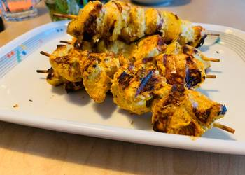 Easiest Way to Cook Tasty Yogurt curry chicken BBQ