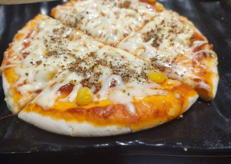 Simple Way to Make Super Quick Homemade Corn cheese pizza