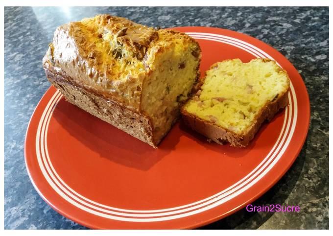 Cake aux lardons & aux olives