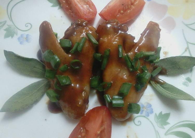 How to Prepare Quick Sweet n sour chicken wings# chicken contest