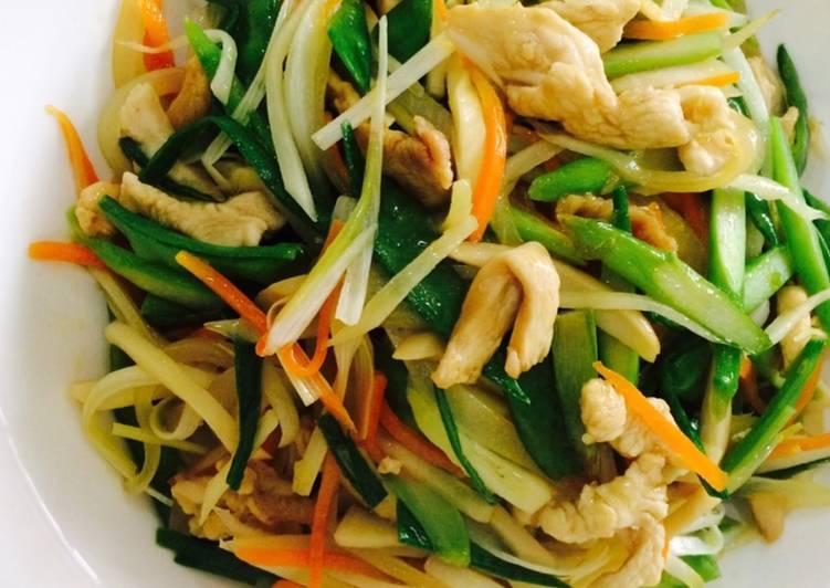 Tumis sayur jamur & asparagus#menusehat