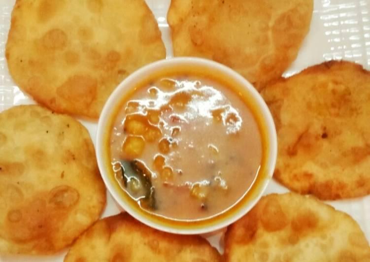 Easiest Way to Make Homemade Daal kachori with aloo tarkari