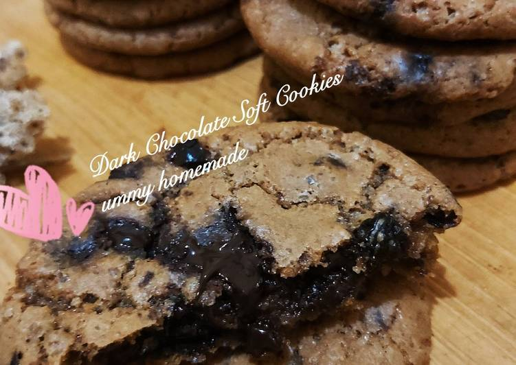Dark Chocolate Soft Cookies