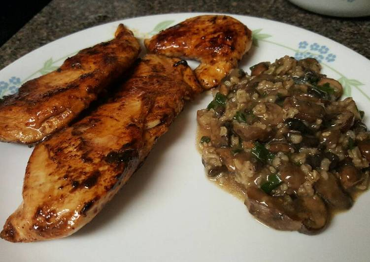 Simple Way to Make Ultimate Balsamic chicken and mushrooms