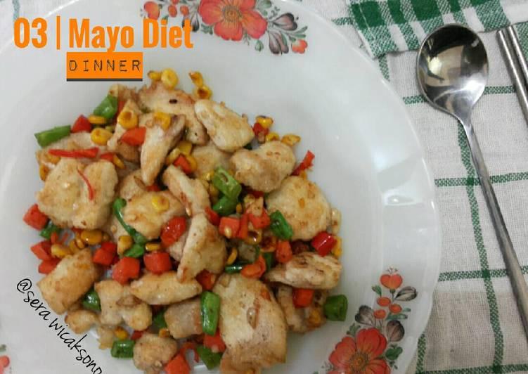 Mayo day 3 - dinner | ayam bawang cabe