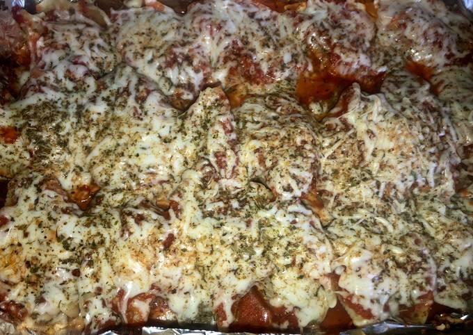 30 minute Spinach&mushroom ricotta and pizza stuffed shells