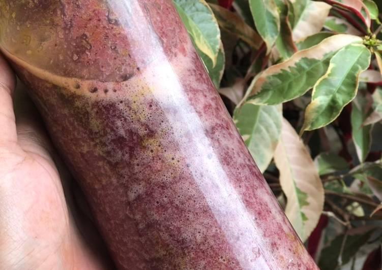 48. Jus bayam merah dan nanas #beveragediary