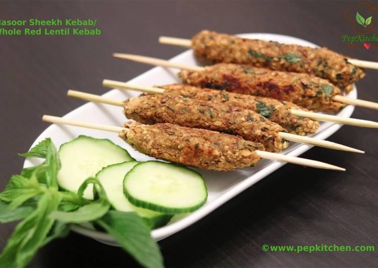 Easiest Way to Prepare Award-winning Masoor Sheekh Kebab/Whole Red Lentil Kebab