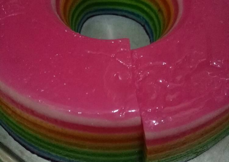 Cara mudah membuat Kue lapis pelangi || 🌈 rainbow enak