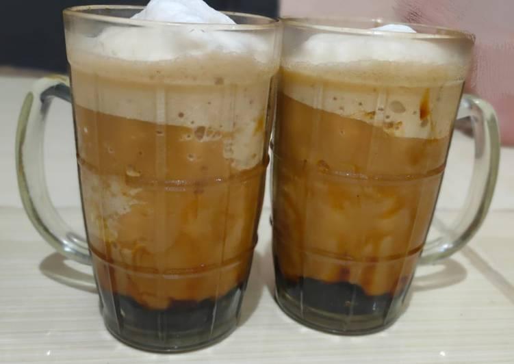Boba drink latte