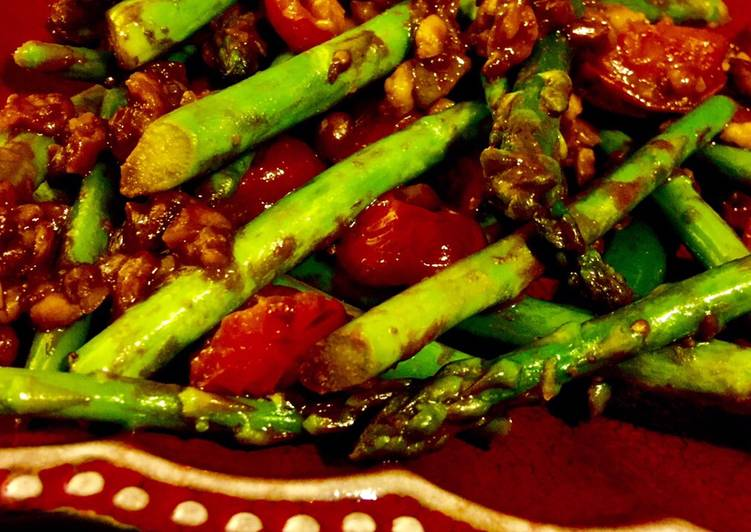 How to Make Most Popular Asparagus in Spicy Peanut Dressing