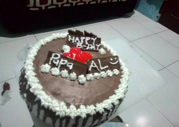 Basic Sponge cake cokelat empuk,lembut ga seret(blackforest)