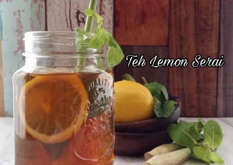 Teh Lemon Serai - resepipouler.com