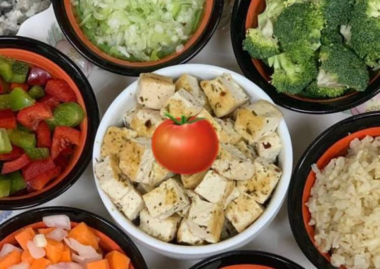 Sunday Fresh Healthy Tofu & Veggie Soup 🥣