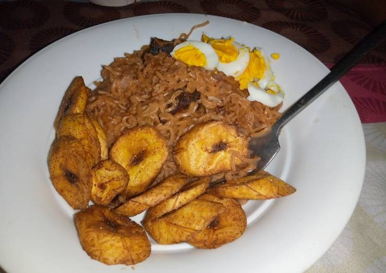 Step-by-Step Guide to Prepare Any-night-of-the-week Noodles with plantain
