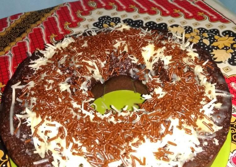 Brownis kukus cokelat simple no bp dan sp #5resepterbaruku