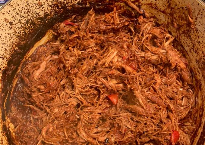 Low and slow cooked brisket