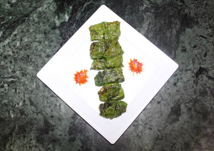 How to Prepare Perfect Spinach salad rolls