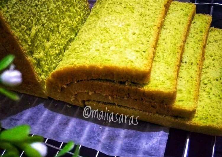 Roti tawar pandan 1x profing