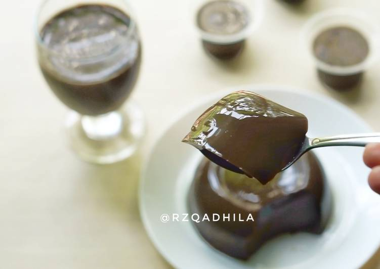 Puding Cokelat Nyoklat Lembut