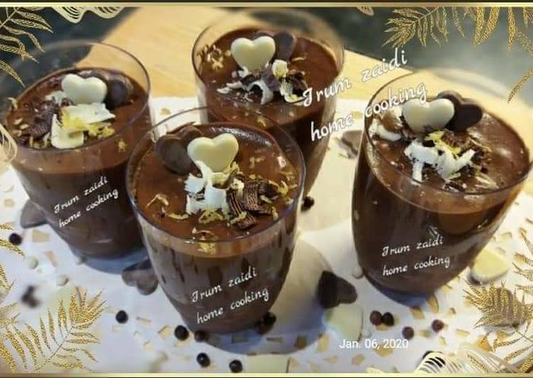 Recipe of Perfect 🍫🥃Chocolate Mousse🥃🍫