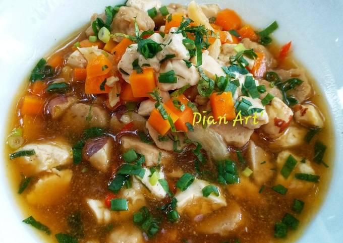 Sup Biji Nangka Tofu Pentol foto resep utama