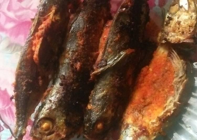 Ikan kembung bakar sederhana