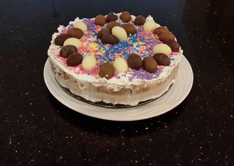 No Bake Triple Chocolate Cheesecake