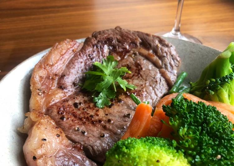 Under 5 min Steak Night 🐄 🍷