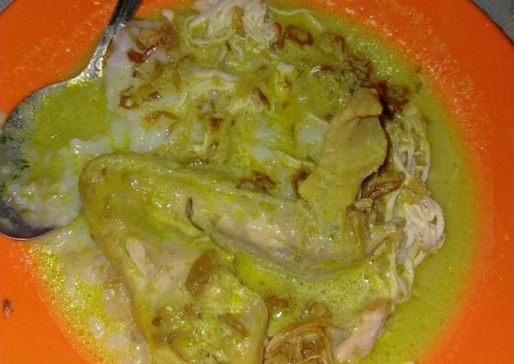 Opor ayam dengan bubur