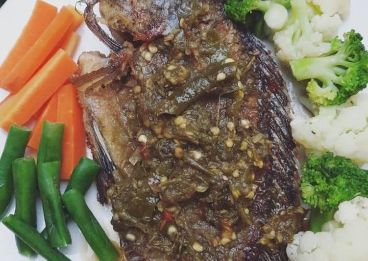 Ikan Mujaer Sambel Ijo