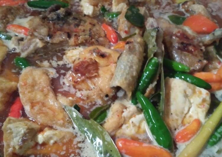 Ikan pari bakar masak santan