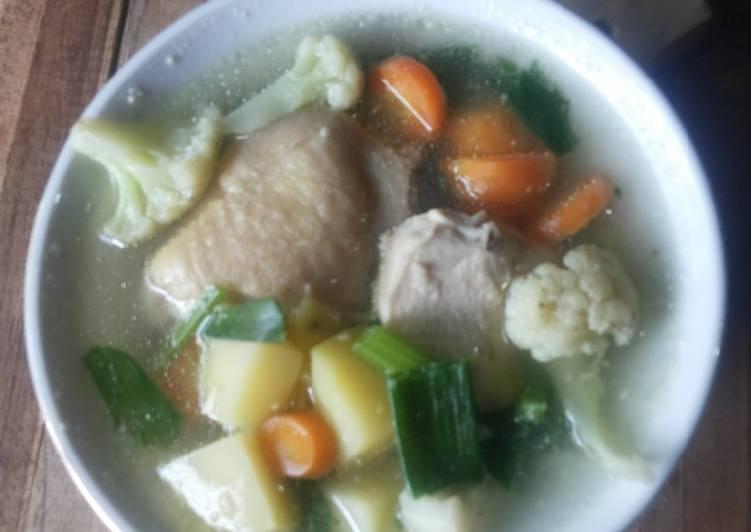 Sup Ayam Enak Tanpa Minyak