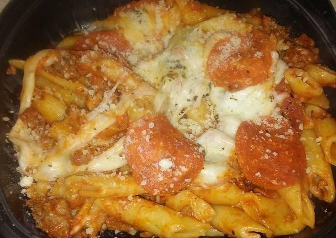 Recipe: Tasty Easy Pizza baked pasta