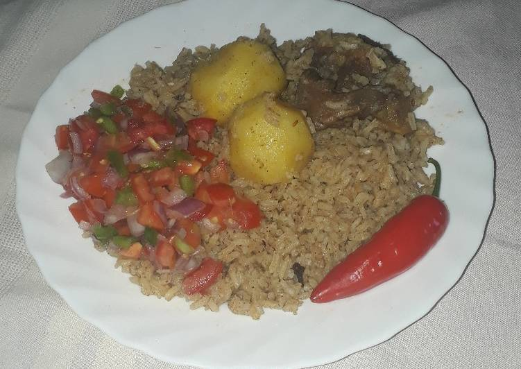 10 Minute Dinner Easy Special Tomato Paste Pilau #festivedishcontestkakamega#authormarathon#