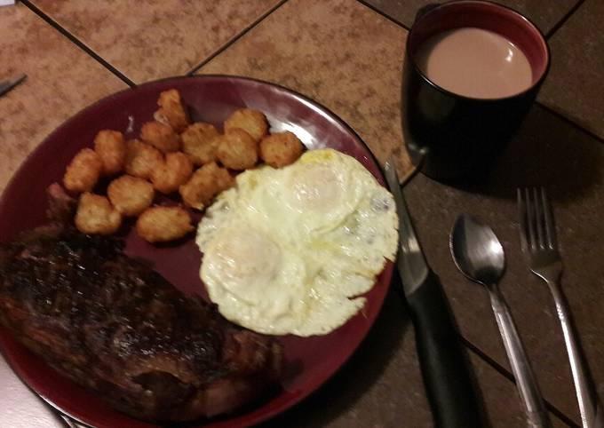 Steak breakfast