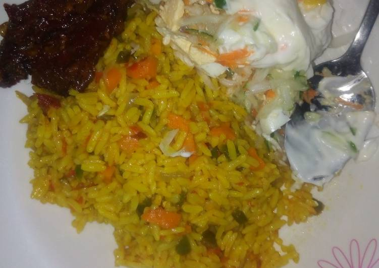 Fried Rice With Pepper Chicken