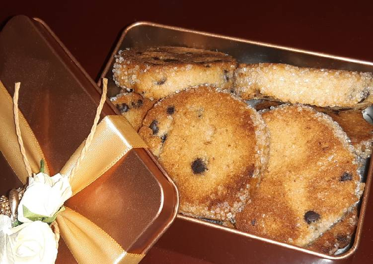 Almond wheat flour choco cookie