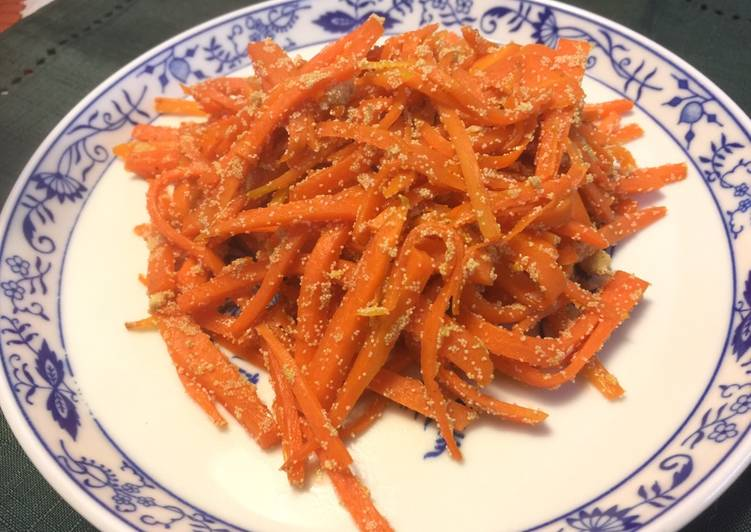 How to Make Favorite Japanese Carrot Fry with fish egg