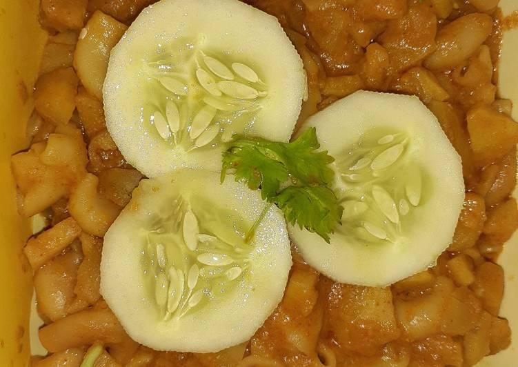 Saturday Fresh Sweet potato macaroni curry