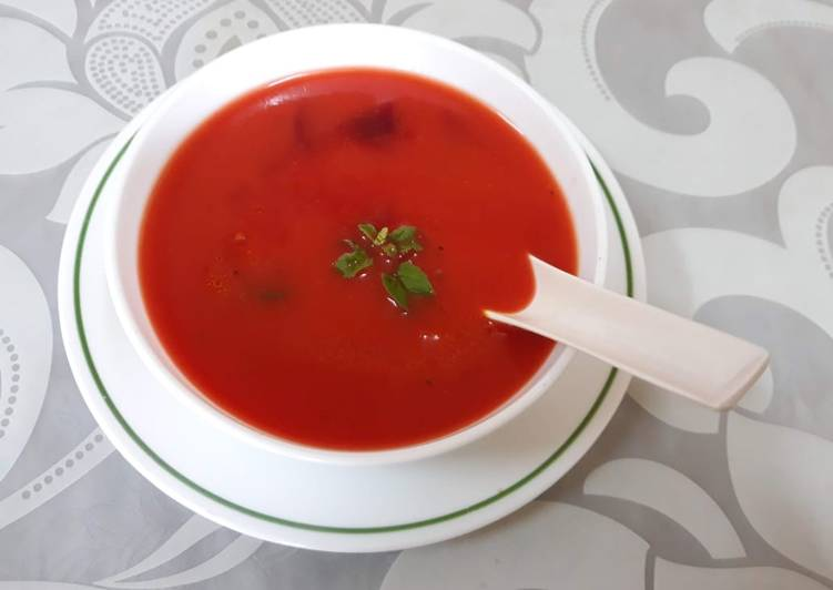 Recipe of Any-night-of-the-week Basil Beetroot Soup
