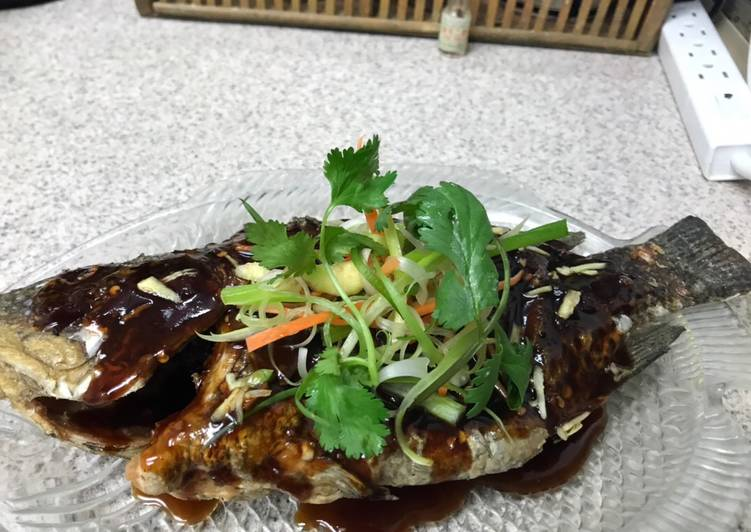 Tilapia in Sweet and Sour Soy Sauce