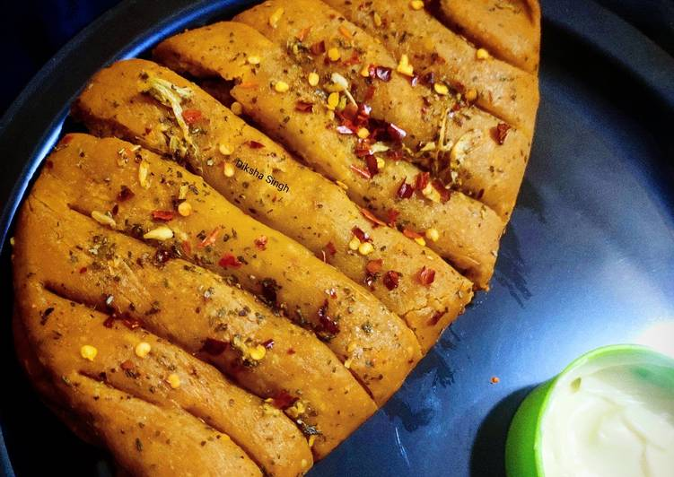 Dominos Style Stuffed Garlic Bread Without Yeast