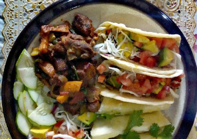 Tacos, Pork and Salad