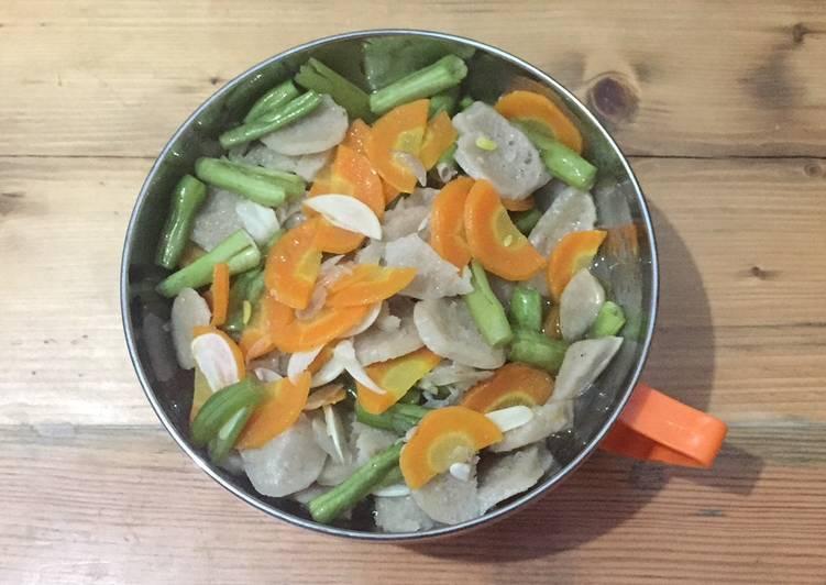 Tumis buncis wortel bakso ayam