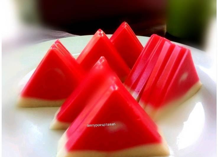Puding merah putih semangka