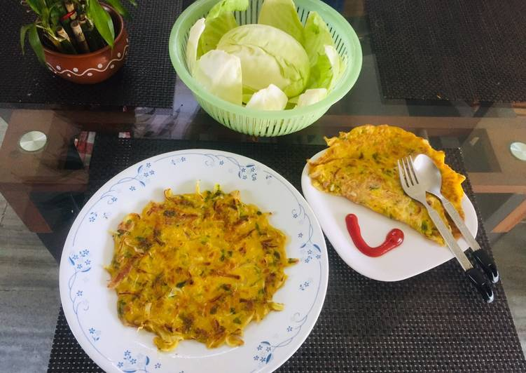 The Savoury and Yummy Cabbage Pancakes/ Gola Ruti, for a Healthy Breakfast