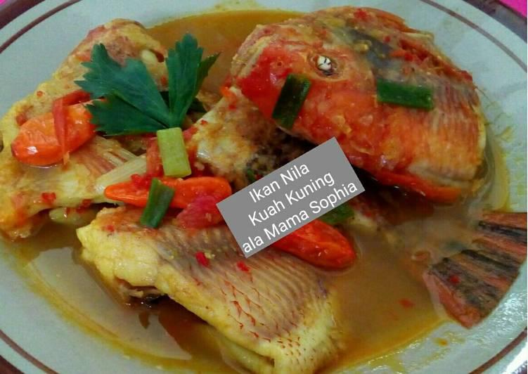 Ikan Nila Kuah Kuning Pedas