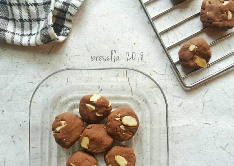 Cookies coklat almond gluten free #maree
