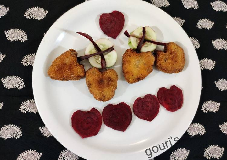 Shaped cheese cutlet